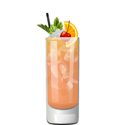 Puka Punch with rum and honey syrup