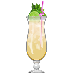 Rain Killer tropical cocktail with light rum, aged rum, lime juice, orange juice, pineapple juice, simple syrup, and bitters
