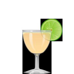 Rising Sun cocktail with mezcal, grapefruit juice, lime juice, maraschino, and salt