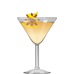 Rites of Spring cocktail with aquavit, white vermouth, peal liqueur, oleo saccharum, and bitters