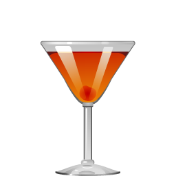 Rob Roy cocktail with scotch and sweet vermouth