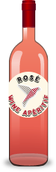 Bottle of rosé wine apéritif for cocktail recipes