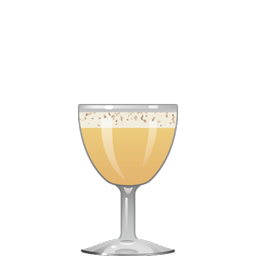 Rum Flip cocktail with aged rum, egg, demerara syrup, and nutmeg