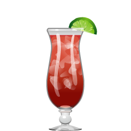 Rum Runner cocktail with rum and blackberry liqueur