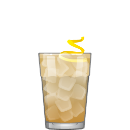 Scotch and soda cocktail with club soda