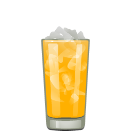 Screwdriver cocktail with vodka and orange juice