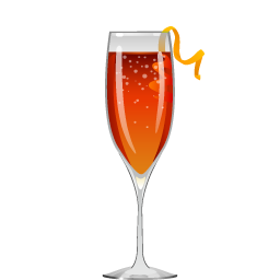 Seelbach cocktail with bourbon and sparkling wine
