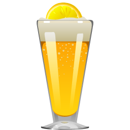 Shandy cocktail with beer and ginger ale