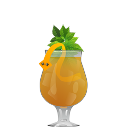 Sidewinder's Fang cocktail with rum and passion fruit syrup