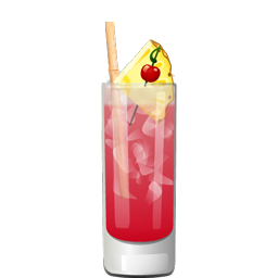 Singapore Sling cocktail with gin and cherry brandy
