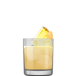 Sinker cocktail with scotch and pineapple juice