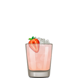 Slippery When Wet cocktail with gin, Greek yogurt, strawberries, lemon juice, and honey