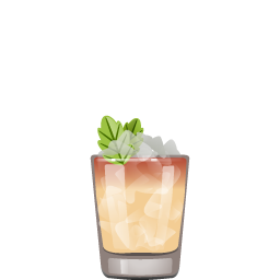 South Sea Dipper cocktail with rum and passion fruit liqueur