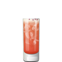 Spumoni cocktail with Campari, gin, simple syrup, tonic water, and grapefruit juice