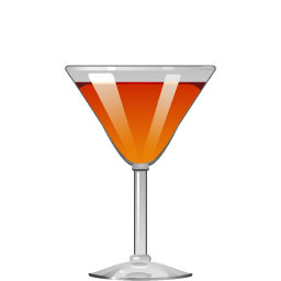 Stinger cocktail with cognac and mint liqueur