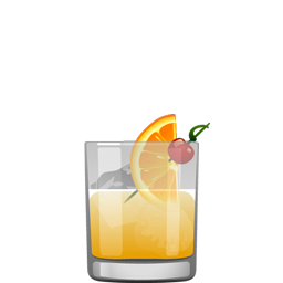 Stone Sour cocktail with bourbon, orange juice, lemon juice, and simple syrup
