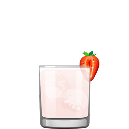 Strawberry-Milk-Punch