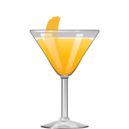 Sunray sour cocktail with bourbon, Grand Marnier, Lillet Blanc, and orange juice