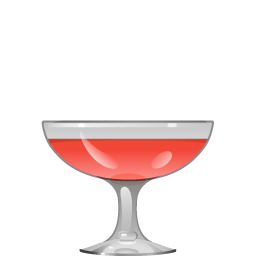 Teresa cocktail with Campari and creme de cassis