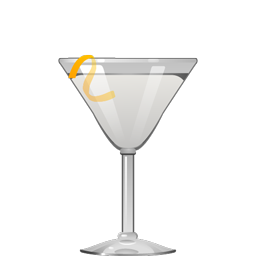 Tuxedo cocktail with gin, fino sherry, and orange bitters