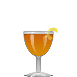 Up-to-Date cocktail with sherry, rye, orange curaçao and bitters