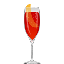 Veronica Rose cocktail with Aperol, rose syrup, orange bitters, and sparkling wine