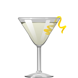 Vesper gin and vodka cocktail