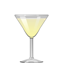 Vieux Mot sour cocktail with gin, elderflower liqueur, lemon juice, and simple syrup