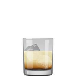 White Russian cocktail with coffee liqueur, vodka, and cream or milk